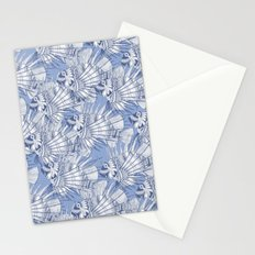 fish mirage blue Stationery Cards