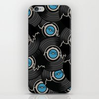 record iPhone & iPod Skins featuring Broken Record by 2EQUALS