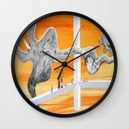 Pachyderm Cannibalism Wall Clock