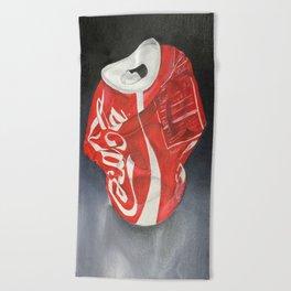 Coca-Cola Can Beach Towel