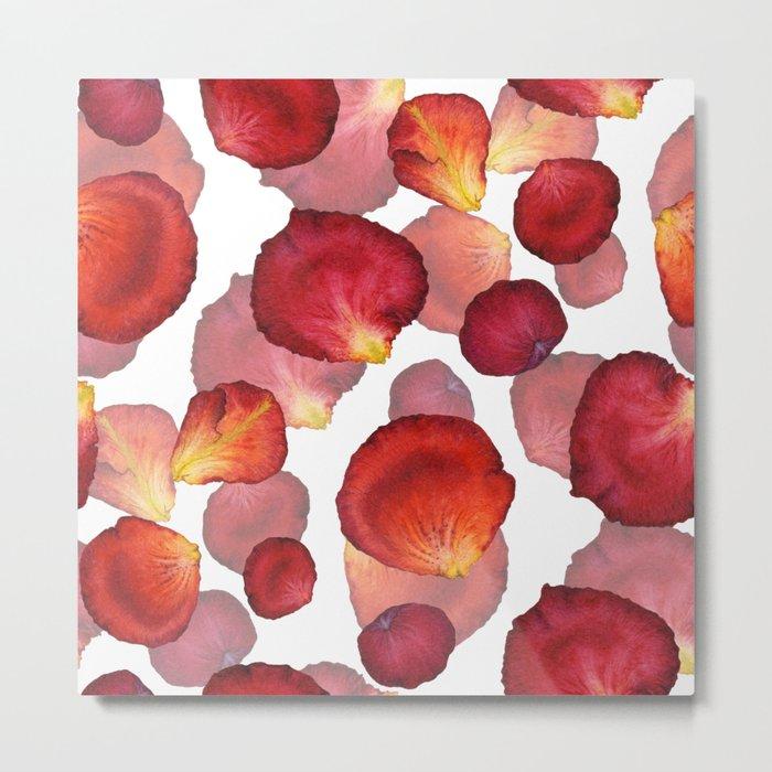 Rose Petal Pattern 04 Metal Print