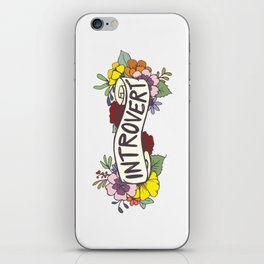 Floral Introvert Banner iPhone Skin
