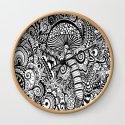 Magic Mushroom Black and white by madhattersdiary