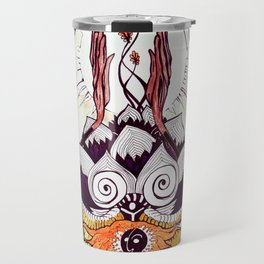 Omni Om. Man, Cat and Trees Travel Mug