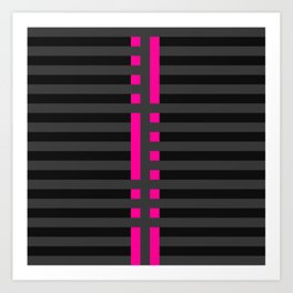 Licorice Bytes, No.2 in Black and Pink Art Print