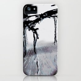 Concept frozen : Ice on branches iPhone Case
