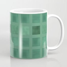 Colorful geometric pattern grunge Tile . Green emerald color . Coffee Mug