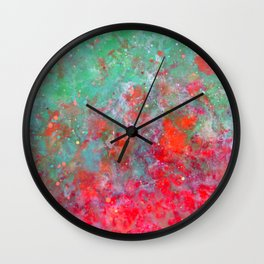Flower Bed - Original Abstract Art by Vinn Wong Wall Clock