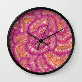 Shroomin' Pattern Wall Clock