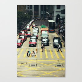 Dancers Stopping Traffic Canvas Print