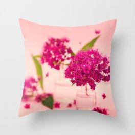 Pink Spring Flowers - Meera Mary Thomas Design Throw Pillow