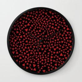 RED TRI Wall Clock
