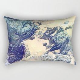 BLUE SURF - Abstract Sea Study Rectangular Pillow