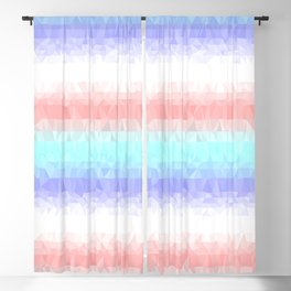 Pastel Stripes Blackout Curtain