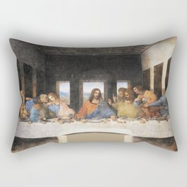 The last supper- painting by Leonardo da Vinci Rectangular Pillow