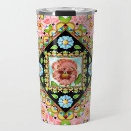 Cottage Pink Pansy Travel Mug