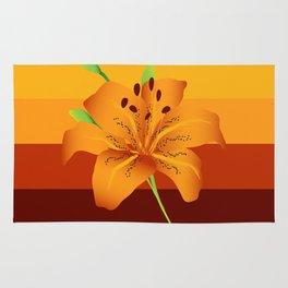 Orange Tiger Lily Rug