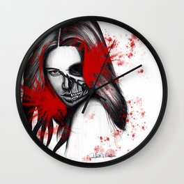 The half-demon half-angel woman V2 Wall Clock