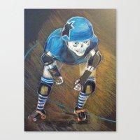 roller derby Canvas Prints featuring ROLLER DERBY QUEEN by LCG STUDIO / MISTY SPICER