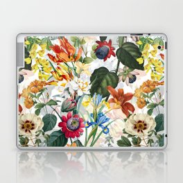 Vintage & Shabby Chic - Tropical Botanical Flower Garden  Laptop & iPad Skin