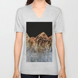 Fire and Ice Citrine crystals Unisex V-Neck