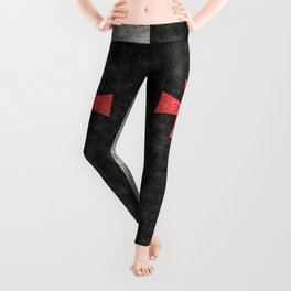 Knights Templar Symbol with super grungy textures Leggings