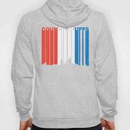 Red White And Blue Council Bluffs Iowa Skyline Hoody