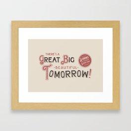 Great Big, Beautiful Tomorrow Framed Art Print