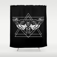 moth Shower Curtains featuring Moth by Jimmy Breen