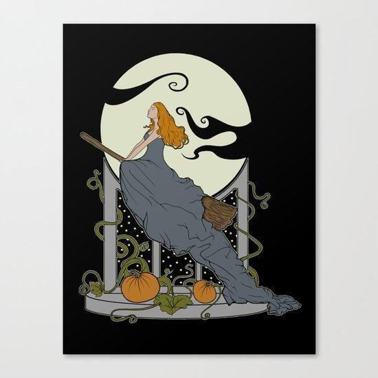 Halloween Nouveau Canvas Print