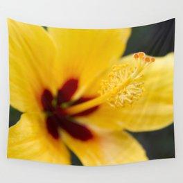 Boreas Tropical Hibiscus Lemon Drop Wall Tapestry