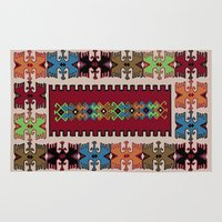 kilim Area & Throw Rugs featuring Kilim pattern 026 by Ranka Stevic