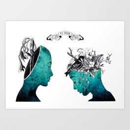 My brain at day and night  Art Print