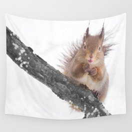 Little squirrel - smack! Wall Tapestry