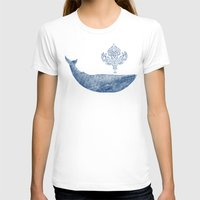 damask T-shirts featuring The Damask Whale  by Terry Fan