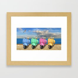 Scooter in bright colors Framed Art Print