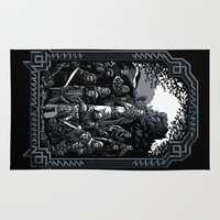 lotr Area & Throw Rugs featuring There and Back Again by Fuacka