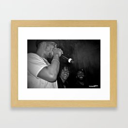Live from New Jet City: Curren$y, Lupe Fiasco & Mickey Factz Framed Art Print
