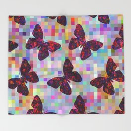 Butterflies 02 Throw Blanket
