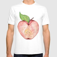 An apple a day Mens Fitted Tee MEDIUM White