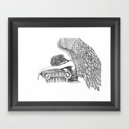 Angel of Grief Framed Art Print