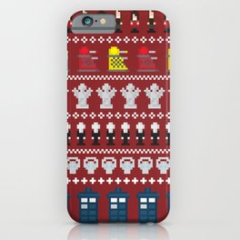 Doctor Who - Time of The Doctor - 8 bit Christmas Special iPhone Case