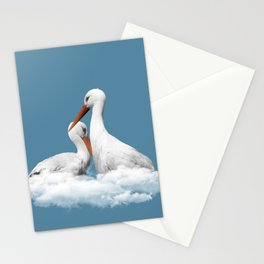 STORKS ON CLOUDS (animals love) Stationery Cards