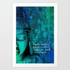 Aqua Buddha Art Print
