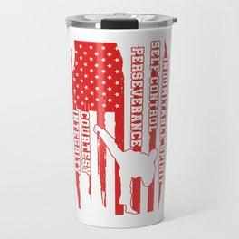 USA United States American Taekwondo Martial Artist Travel Mug