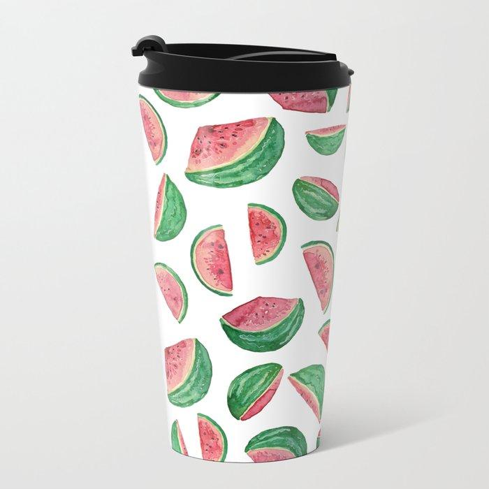 watermelon pattern Metal Travel Mug