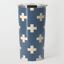 Swiss Cross Blue Travel Mug