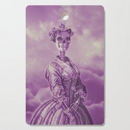 Lady Bonehead VINTAGE PURPLE / Skeleton portrait Cutting Board