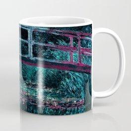 Monet The Water Lily Pond Teal Purple Coffee Mug