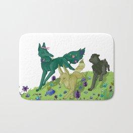 Wolves running - Balade de loup Bath Mat
